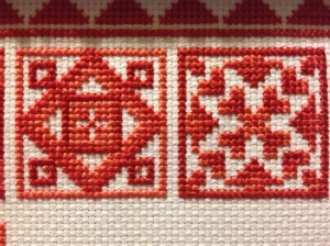 2 blocks of 'Redwork Quilt'